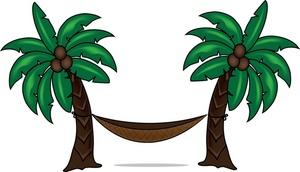 Palm Tree clipart isolated Tree Hammock Coconut  Clipart