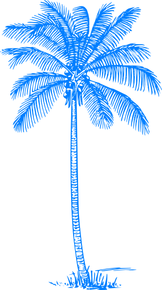Palm Tree clipart curved As: this Clker Download Art