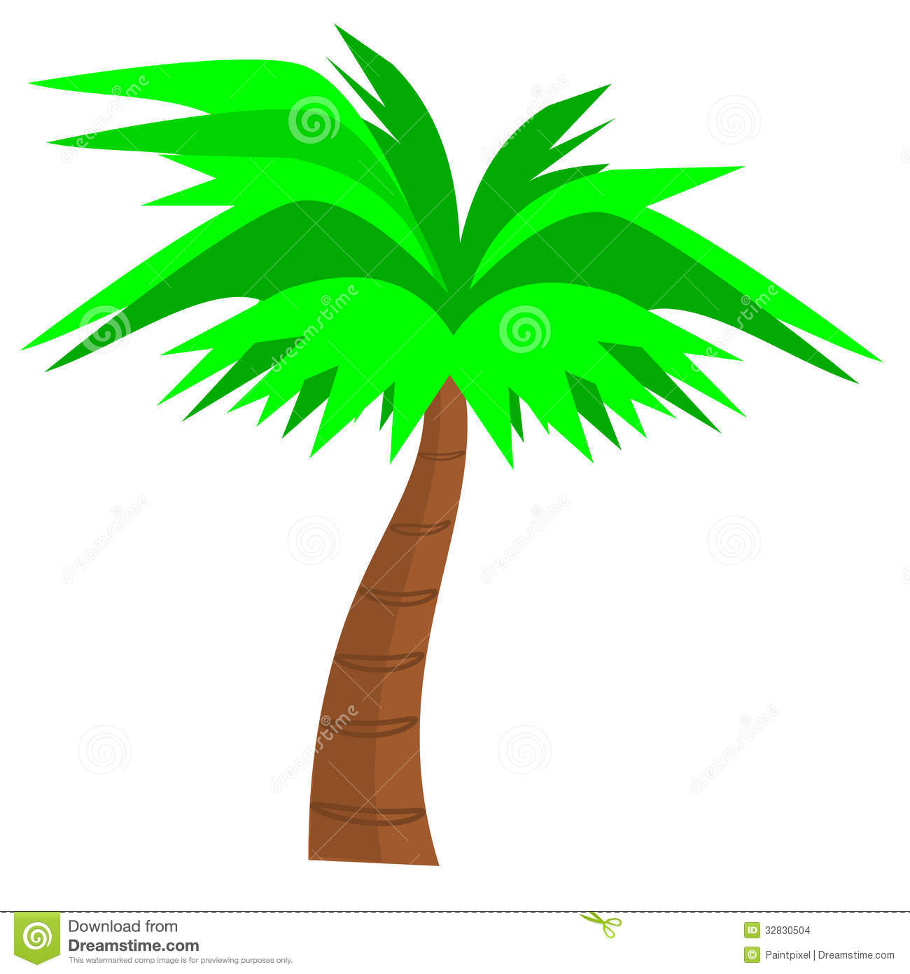 Palm Tree clipart curved Vector Tree trunk Palm Palm
