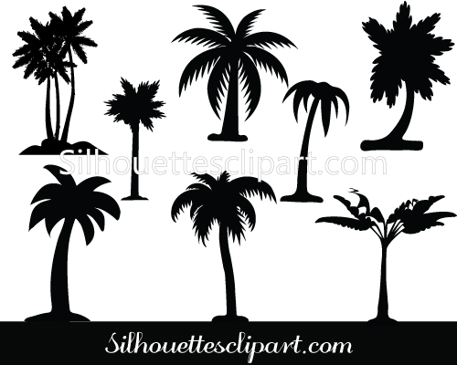 Palm Tree clipart curved Vector tree Graphics Palm Tree