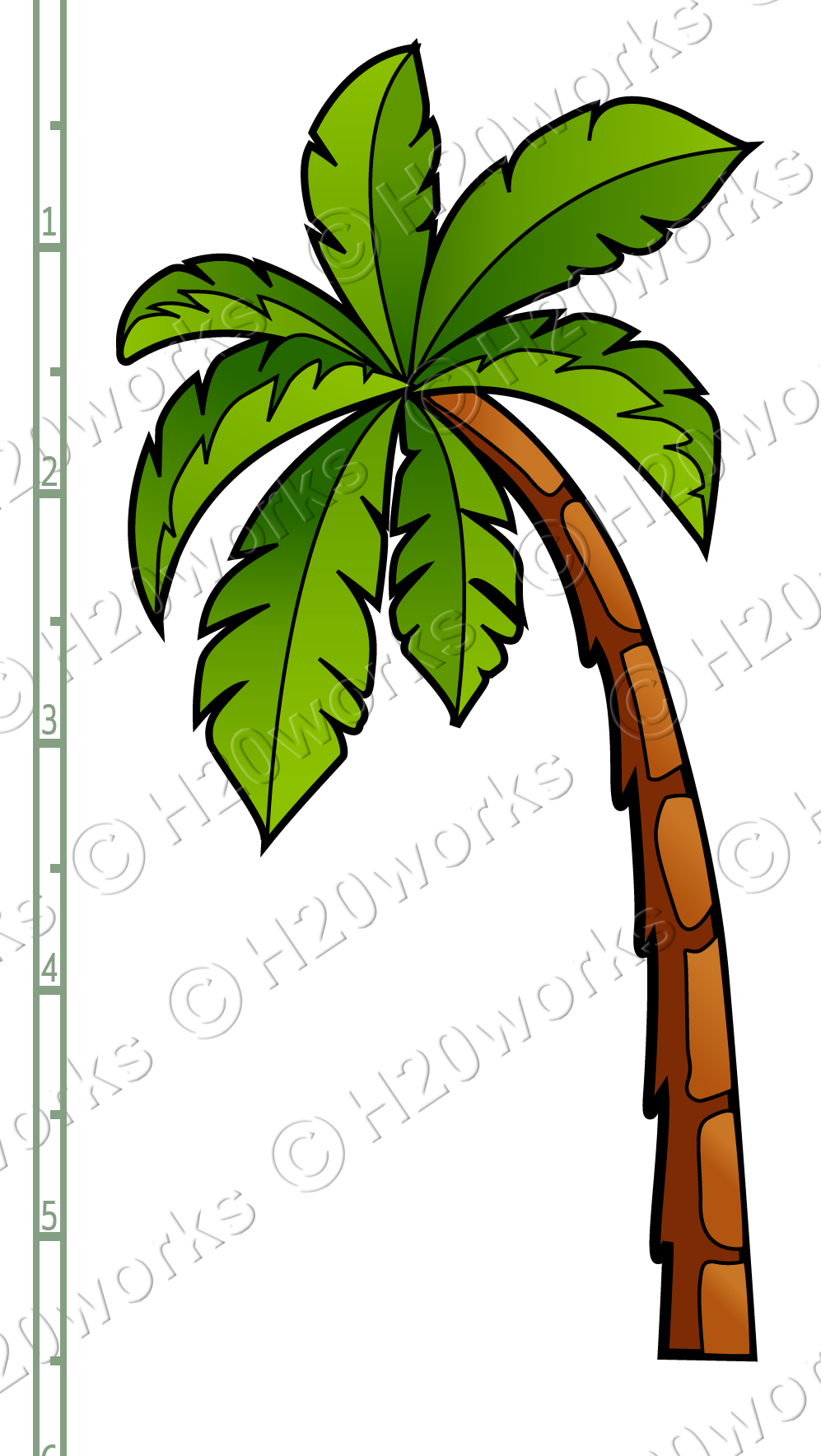 Palm Tree clipart curved Clip Palm palm%20tree%20beach%20clipart Clipart Tree
