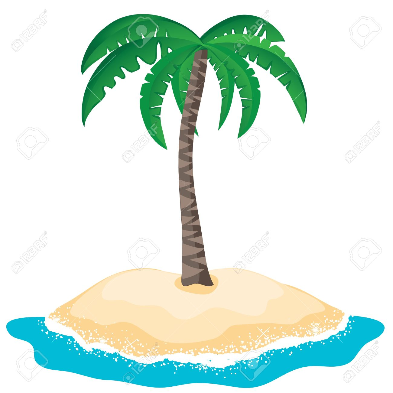 Palm Tree clipart deserted island Tree On trees Free Palm