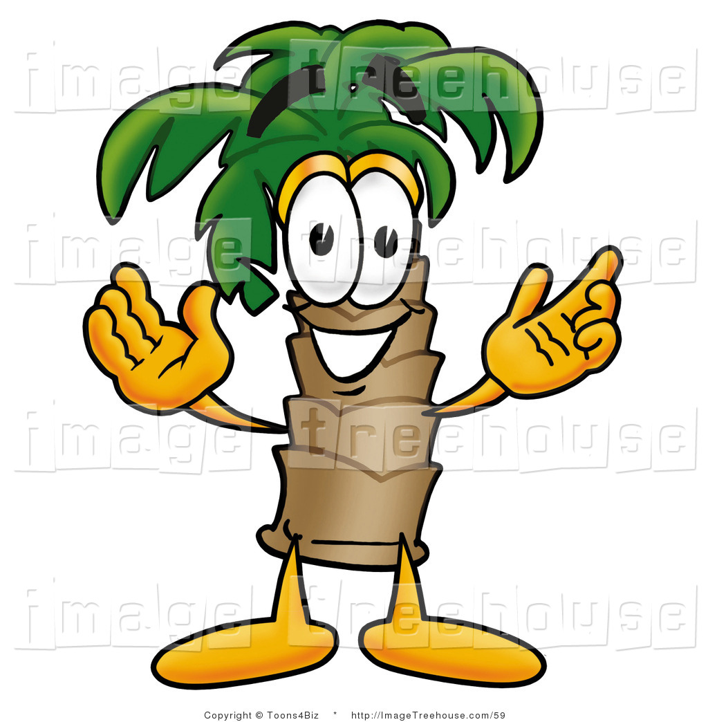 Palm Tree clipart face Palm  face cartoon Commercial