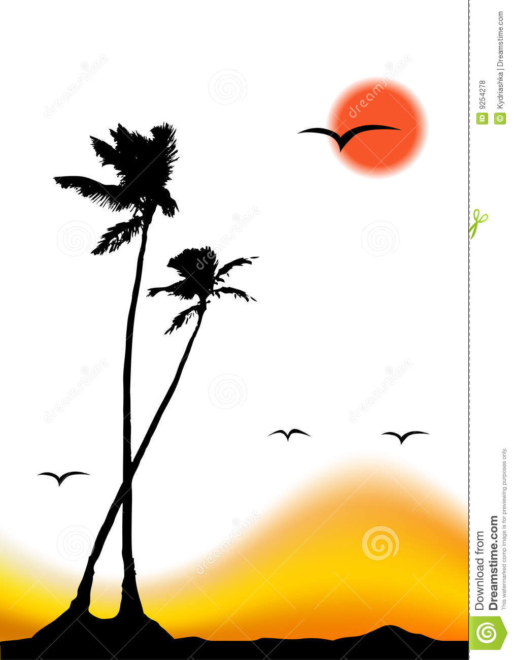 Palm Tree clipart group Tree Silhouette Palm Clipart Images