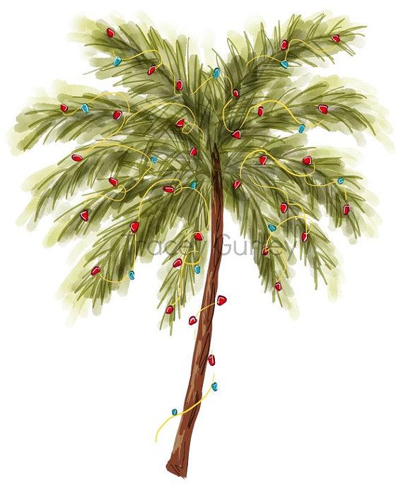 Tropical clipart christmas tree #5