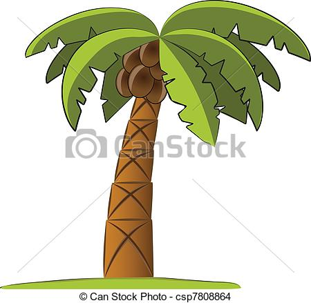 Palm Tree clipart palma Search vector csp7808864 tree Palm