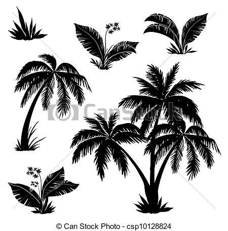 Palm Tree clipart palma And flowers  flowers Palm
