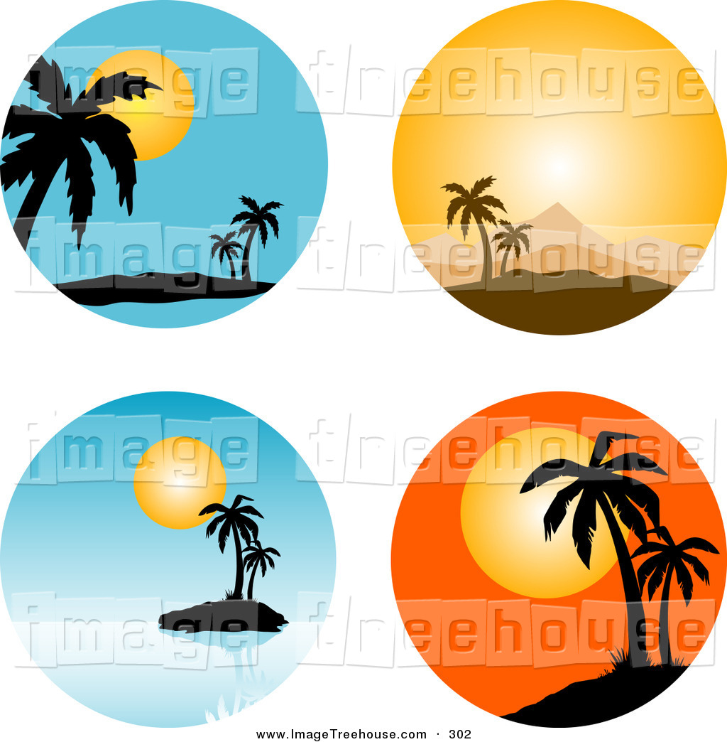 Palm Tree clipart tropical scene Free Tropical Panda Images Clipart
