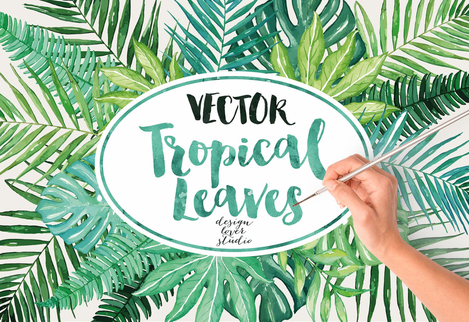 Palm Tree clipart wedding Watercolor Tropical Leaves a digital