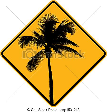 Palm Tree clipart yellow Sign and tree yellow tree