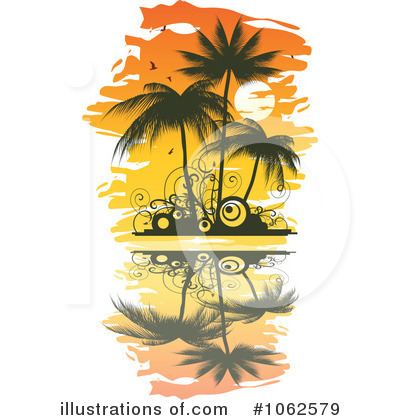 Palm Tree clipart yellow Clipart by Trees Illustration (RF)