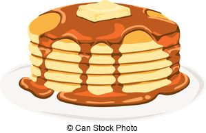 Pancake clipart cooking  Clip Pancake vector maple