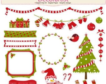 Pancake clipart christmas Pancake party clipart bunting digital