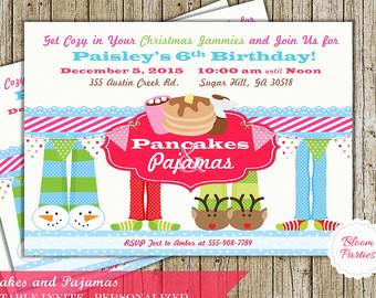 Pancake clipart christmas Cocoa Printable Invitation Pajamas Christmas