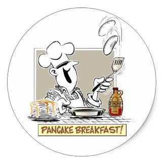 Pancake clipart cooking breakfast Breakfast Zazzle Pancakes on Round