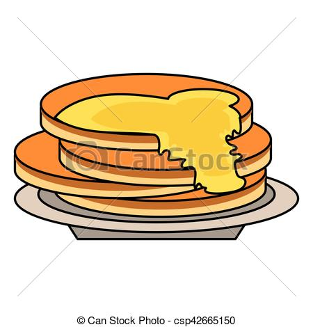 Pancake clipart delicious Pancakes of Vector outline Vector