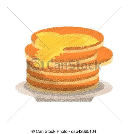 Pancake clipart delicious Delicious of Vector syrup Clipart