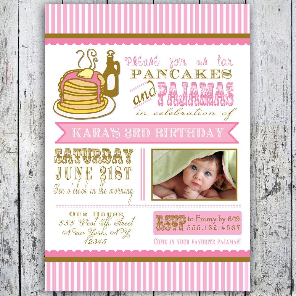 Pancake clipart pajamas This Printable Pancakes Card Pajamas
