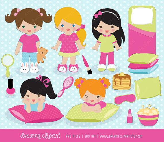 Pancake clipart pajamas Sleepover clipart / sleepover slumber