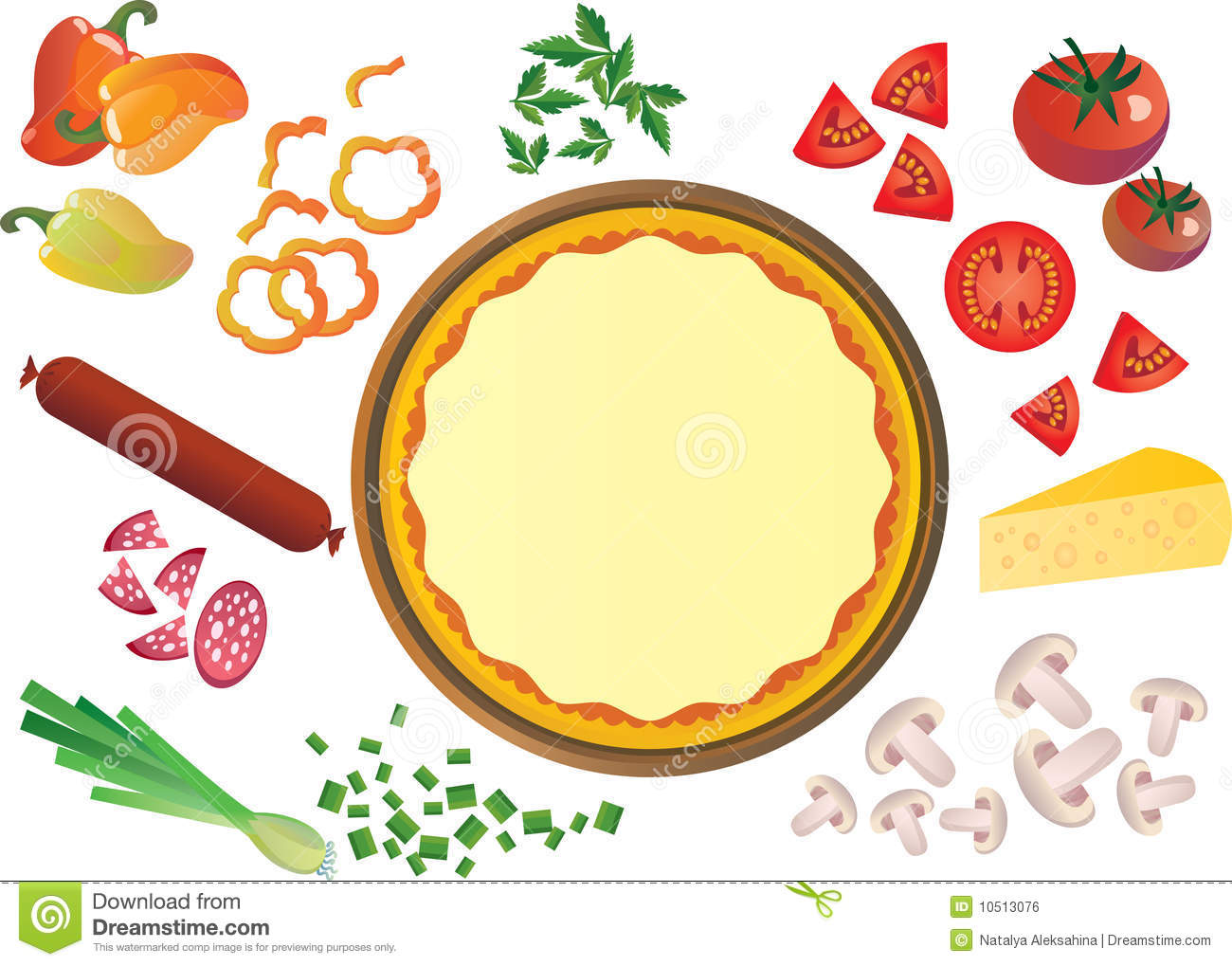 Pizza clipart pizza crust Ingredients Clipart cliparts Pizza Ingredients