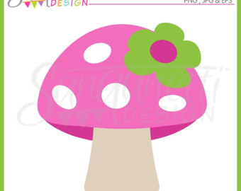 Pancake clipart rainbow Mushroom Pink Pancake clipart Commercial