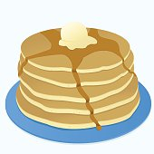 Pancake clipart stacked Syrup Pancake Stack Graphics Clip