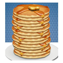 Pancake clipart stacked Art Stack Pancakes Of Clip