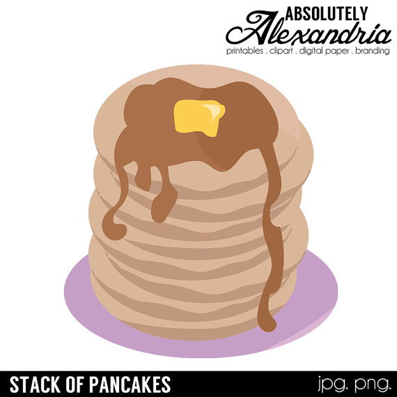 Pancake clipart stacked & Pancake Stack Commercial Clipart