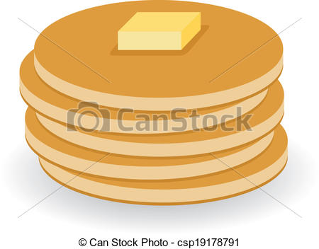 Pancake clipart vector EPS pancakes with Vectors of