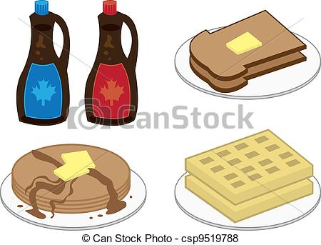 Pancake clipart waffle  foods waffles of including