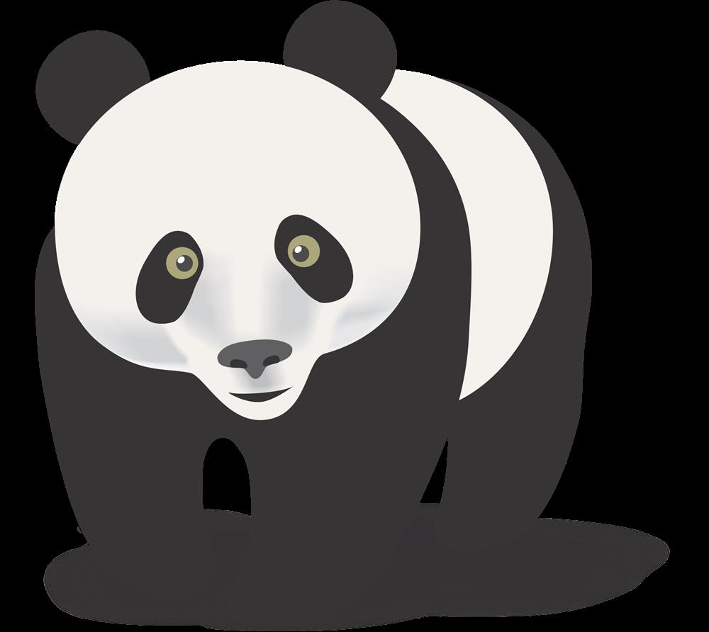 Panda clipart #3