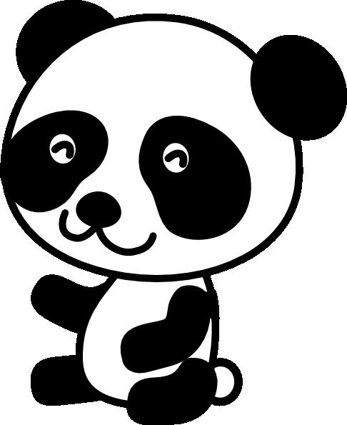 Panda clipart #8