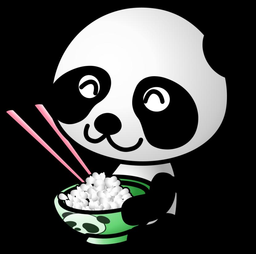 Panda clipart #11