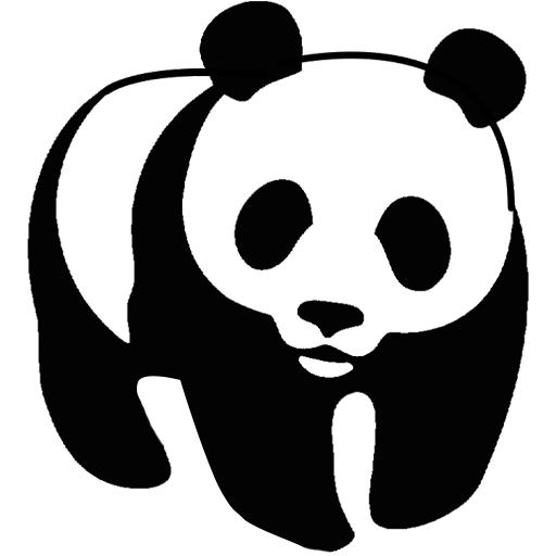 Panda clipart #12