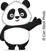 Panda clipart #13
