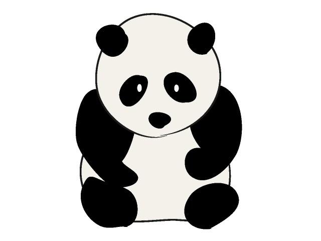 Simple clipart panda Graphics book Cute Clipartix free