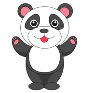 Panda clipart #15