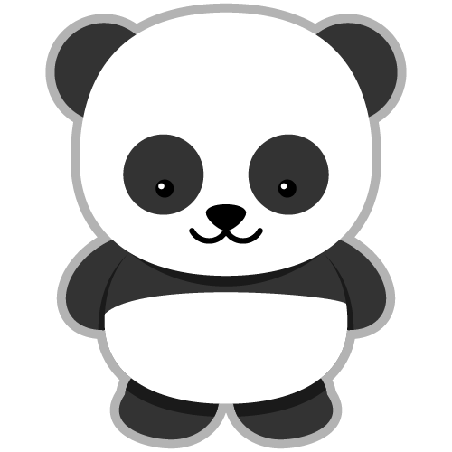 Panda clipart Cute party Little a Clip