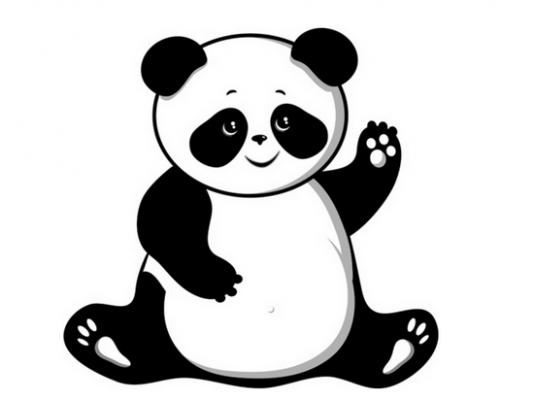 Panda clipart #6