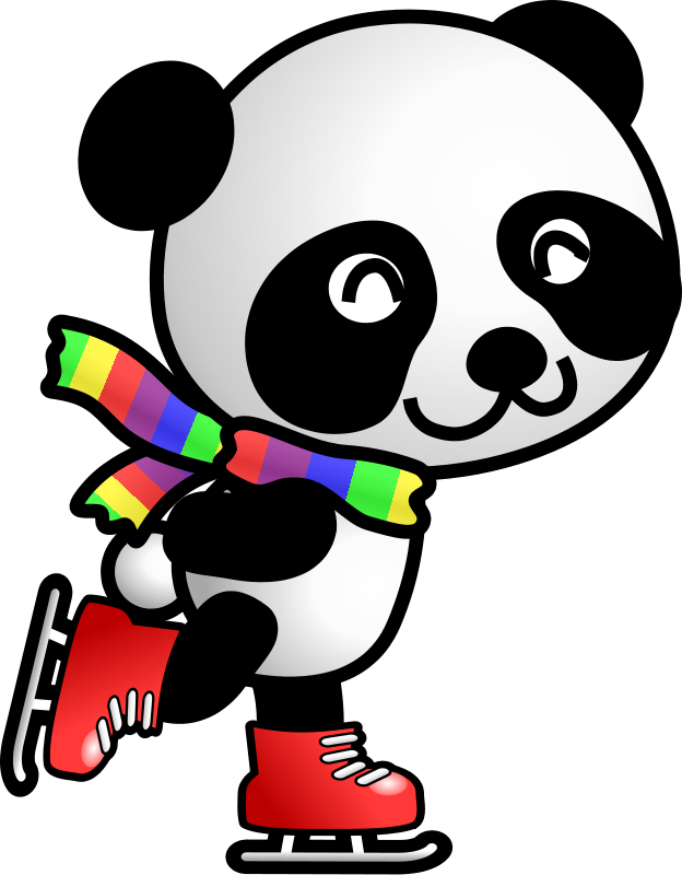 Animal clipart ice skating Images Panda Panda Cute Clipart