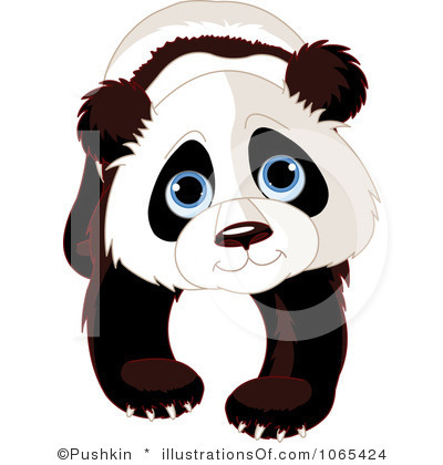 Panda clipart carton White And Panda Clipart Panda