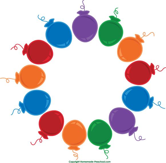 Circle clipart balloon Birthday Balloon Clipart Art Clipart