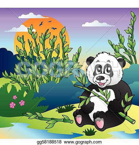 Panda clipart omnivores Bamboo Cartoon Vector Cartoon panda