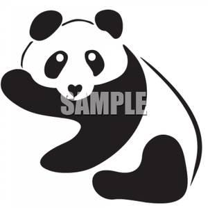 Panda clipart black and white Real clipart Black White panda