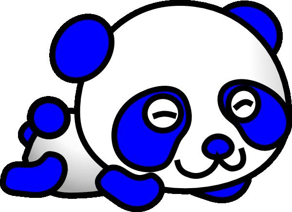 Panda clipart blue Clker Panda com image as: