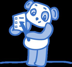 Panda clipart blue Clker Panda com Clip Art