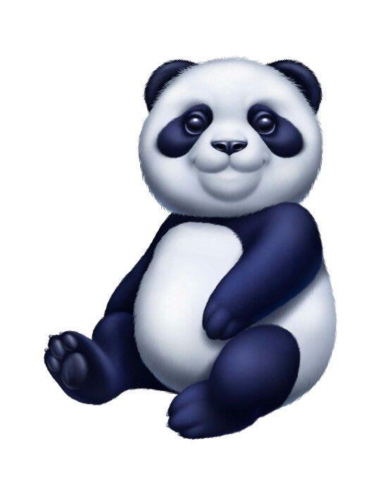 Panda clipart blue On best PANDAS images Pinterest