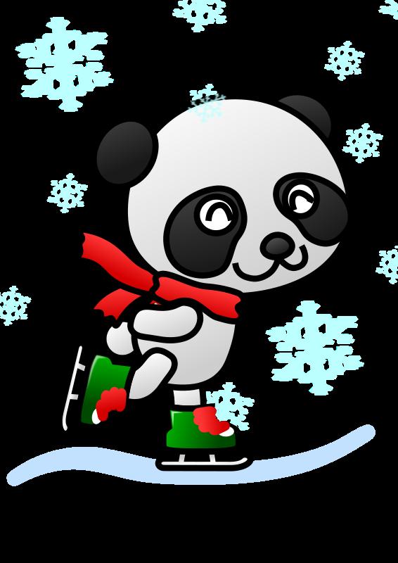 Animal clipart ice skating Clipart Panda Art Panda Clipart