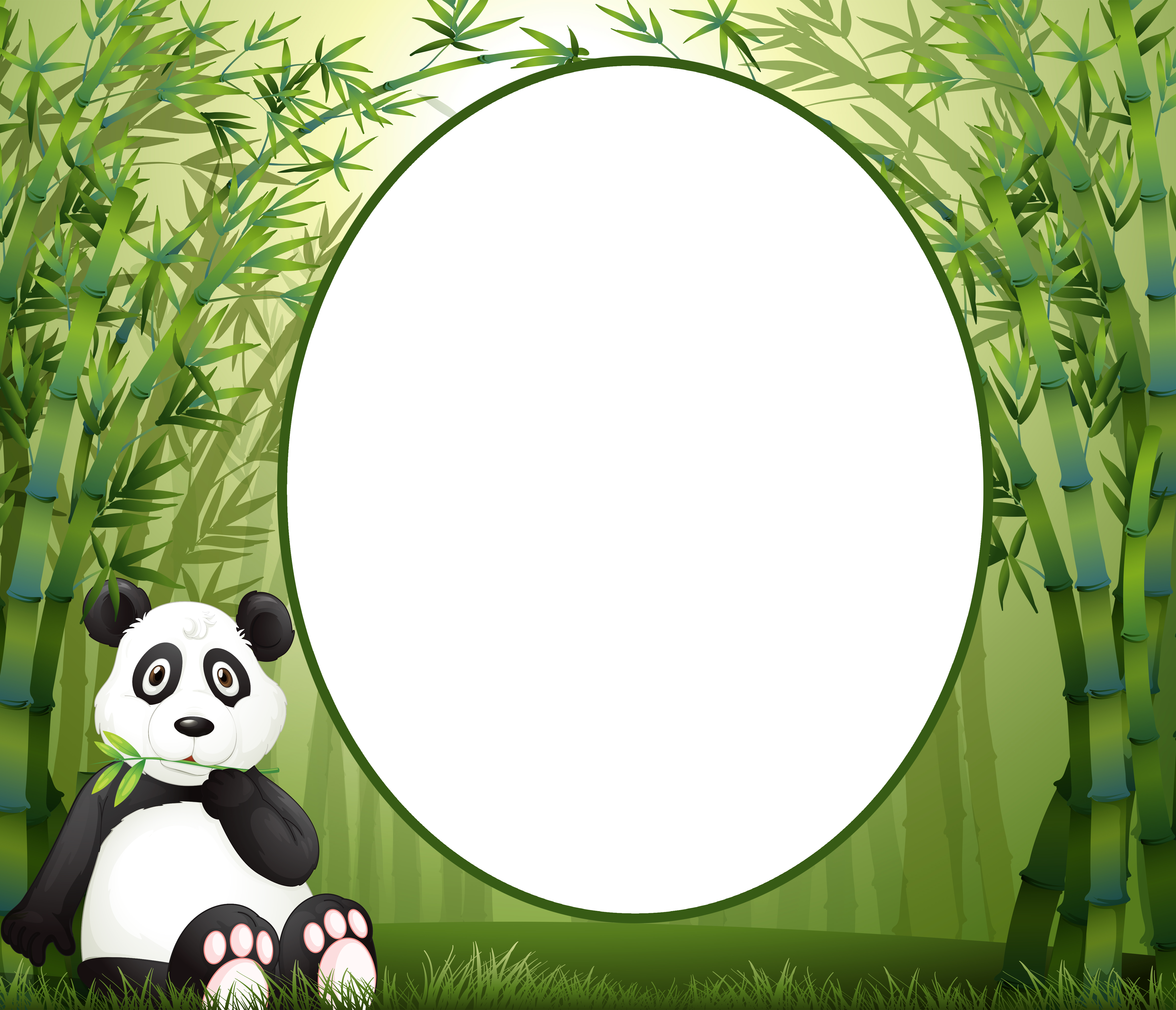 Panda clipart frame #13