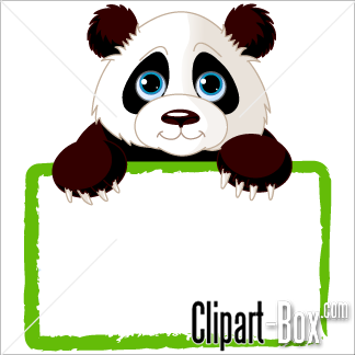 Panda clipart frame #10